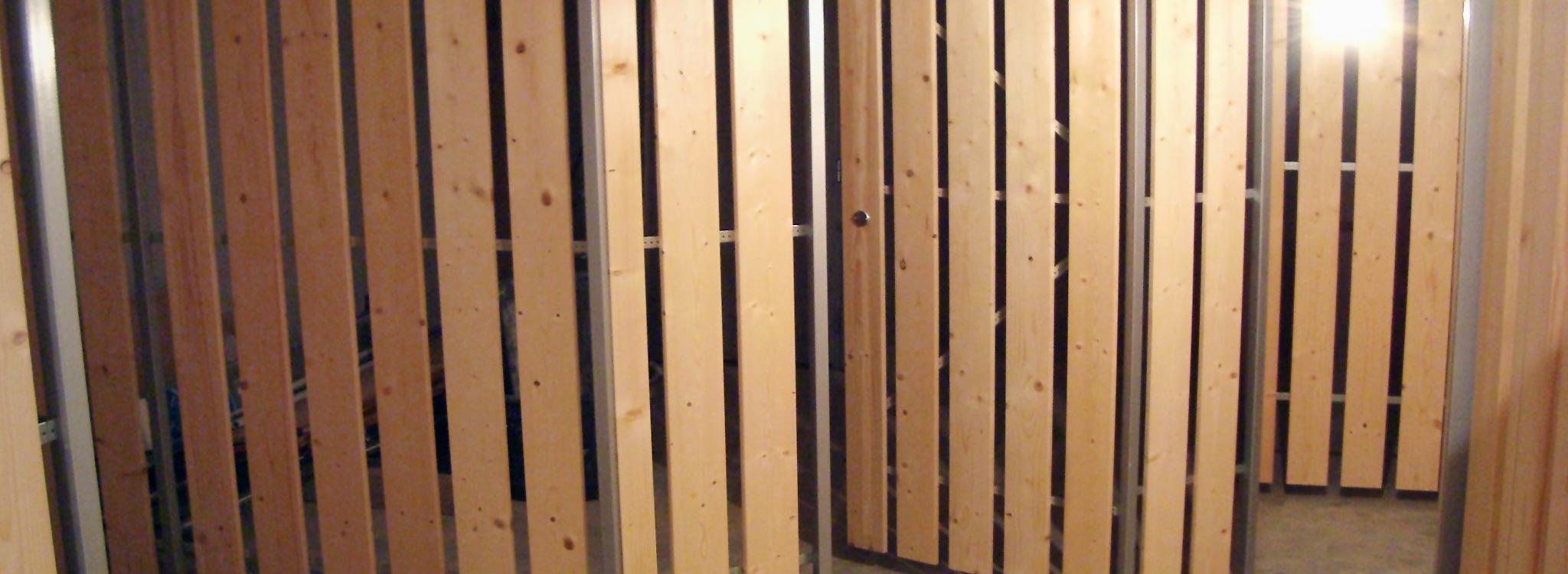 Holzplattentrennwand Matrix